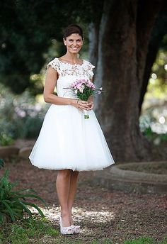 3e7d10249d01 Discount 2012 Formal Lace Bateau Neck With Balloon Dress Tea length  (SWD-066) · Tea Length Wedding ...