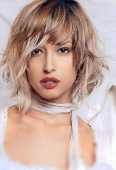 short hairstyles with long bangs 2015 - Google Search