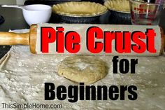 I've always been lousy at making pie crust - maybe this one will work for me.  from This Simple Home