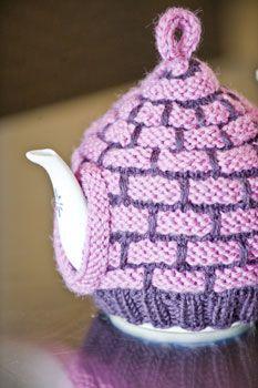 Brick-Stitch Tea Cozy free knitting pattern on Knitting Daily at http://www.knittingdaily.com/media/p/29218.aspx