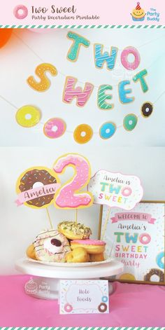 Two Sweet Party Printable