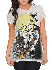 HOTTOPIC.COM - The Nightmare Before Christmas Group Girls T-Shirt