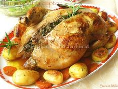 » Pui umplut la cuptorCulorile din Farfurie Carne, Food And Drink, Turkey, Meat, Chicken, Food, Zucchini, Roast, Turkey Country