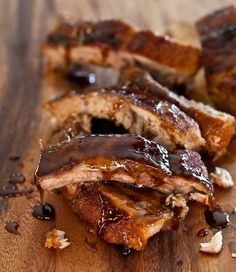 Cayenne Cinnamon Baby Back Ribs with Maple Glaze Recipe | Steamy Kitchen Recipes