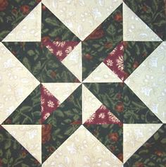 """Star and Pinwheels"" block  Quilters Cache - Michele"