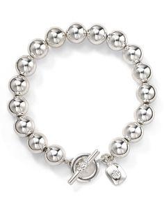 This bracelet would help jazz up any outfit  Lauren Ralph Lauren Silver Bead Bracelet | Bloomingdale's
