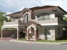 How To Design Bungalow 2 Story House Plans 3 Storey House Design, Two Story House Design, 2 Storey House, House Front Design, Modern House Design, House Extension Design, Cheap Houses, Affordable Housing, Home Design Plans