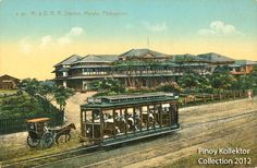 Tranvia plying near Tutuban rail station - Pinoy Kollektor: Philippine TRAMVIAS (Street Cable Cars) in Postcards. Pinoy's first modern transportation Filipino Architecture, Philippine Architecture, Manila, Cable, Filipino Culture, Spanish Culture, How To Speak Spanish, Pinoy, Philippines