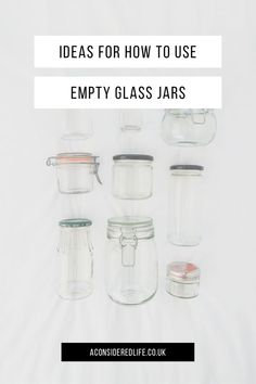 Reusing glass jars is one of the most effective changes you can make in your journey towards a zero waste kitchen or bathroom. These simple idea for how to replace plastic containers for glass jars in your everyday life can make going plastic free a breeze. #freshlifestyle #sustainable #sustainability #plasticfree #zerowaste #plasticpollution #reducereuserecycle