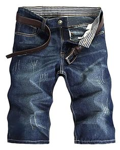 Cameinic MenSummer Fashion Jean Shorts Stretch Denim Shorts Boardshort >>> More info could be found at the image url.