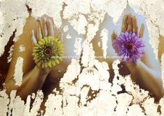 """Equanimity"" from Virtues series   FotoPainting on canvas 125x95 cm   Sarah Arensi&Ferdinando Cioffi 2013"