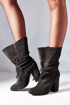 Ecote Carly Suede Ankle-Tie Boots