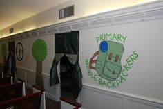Camp Courageous VBS -entrance to a classroom -  Bible Backpackers