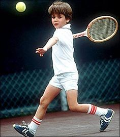 Andre Agassi, approx. age 10, turned pro at age 16.