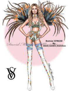 Fashion Design Drawing The sublime Romee Strijd at the Victoria's Secret Fashion Show 2016 Fashion Art, Trendy Fashion, Fashion Models, Fashion Outfits, Trendy Outfits, Female Fashion, Fashion Advice, Fashion Trends, Fashion Design Drawings