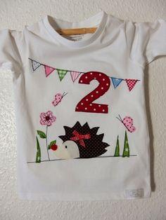 Langarmshirts - GEBURTSTAGS Shirt/Namensshirt mit Zahl~IGEL~ - ein Designerstück von -Liselotta- bei DaWanda
