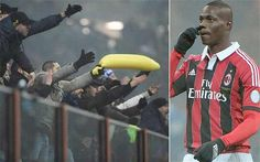 """Mario Ballotelli is an Italian footballer that plays for A.C. Milan. Racism is a big issue in Italy; more so for """"Balo"""" since he is the only dark-skinned player for the Italian national team. In matches, opposing team's fans will hold inflatable bananas and proceed to throw them on the pitch while reciting racist chants."""