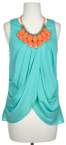 Maybe a different color necklace, but I love the top.
