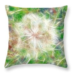 """How about some charming """"Faerie Fluff"""" for summertime entertaining on porch or patio? Shown here as a 14"""" x 14"""" throw pillow; available in a variety of sizes. ~ © 2010 RC deWinter"""