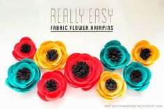 DIY some reallyl easy fabric flower hairpins for you or your little girl! @mintedstrawberry.blogspot.com #DIYaccessory #DIYtutorial #DIYflow...