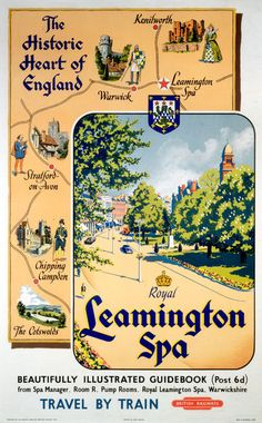 Jigsaw Puzzle-& Historic Heart of England: Royal Leamington Spa& BR poster, Piece Jigsaw Puzzle made in Australia Fine Art Prints, Framed Prints, Canvas Prints, National Railway Museum, Train Service, Railway Posters, Train Travel, Photo Mugs, Photo Gifts