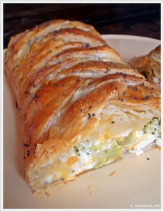 Broccoli Cheddar Chicken Braid~ easy meal with crecent rolls