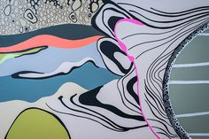 Graphic Line   Wall Mural Interior Design @ Body Engineering Design, Magic, Abstract Artwork, Artwork, Abstract