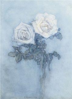 Piet Mondriaan (Dutch, 1872-1944)  Two roses