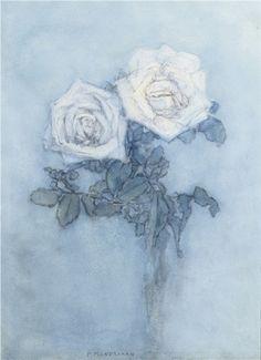 Piet Mondriaan (Dutch, 1872-1944)  Two roses