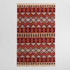 5'x8' Woven Cotton Kilim Orissa Area Rug