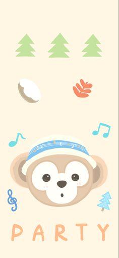 New Wallpaper Iphone, Disney Wallpaper, Duffy The Disney Bear, Aesthetic Backgrounds, Polaroid, Symbols, Friends, Party, Gatos