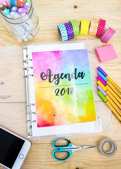 Agenda 2018: descárgala GRATIS Bellet Journal, Diy And Crafts, Arts And Crafts, Diy Notebook, School Items, Book Journal, Printable Planner, Happy Planner, Projects To Try