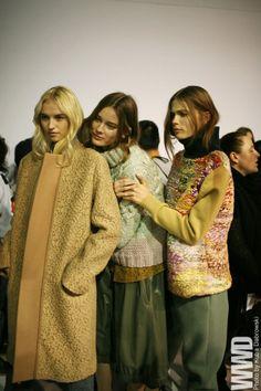 chunky sweaters and coats, chloe