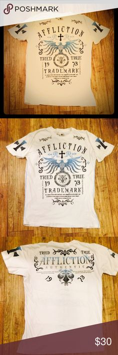 MENS AFFLICTION TEE Super soft Affliction tee like new, no flaws. Crosses on sleeves as well. Purchased from Buckle Affliction Shirts Tees - Short Sleeve