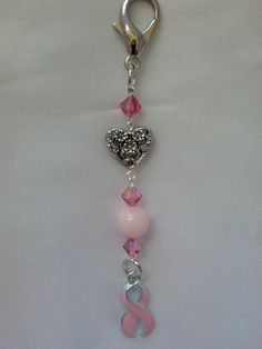 Breast Cancer Key Chain breast cancer pink key by AtYourWittsEnd, $8.00