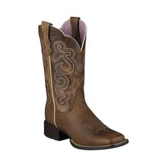 Ariat Quickdraw Cowgirl Boots Womens Brown Leather - ONLY $168.95