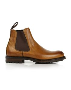 Cheaney Men's Made In England Barnes III Chelsea Boots - Almond Grain Leather Cheaney Shoes, Country Attire, Dressy Shoes, Brogues, Chelsea Boots, Shoe Boots, Almond, Men's Fashion, England