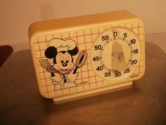 vintage kitchen  timers   VINTAGE 1960's MICKEY MOUSE SUNBEAM KITCHEN TIMER WALT DISNEY by Janny ...