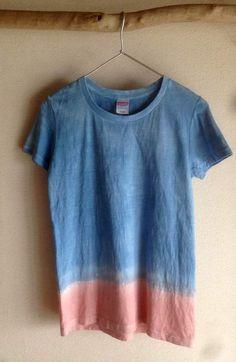 藍染 + 泥染 Tシャツ アカツキ
