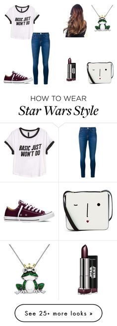 """I'm not basic!"" by wehavetacos on Polyvore featuring H&M, Frame Denim, Converse, Target, Lulu Guinness, women's clothing, women, female, woman and misses"