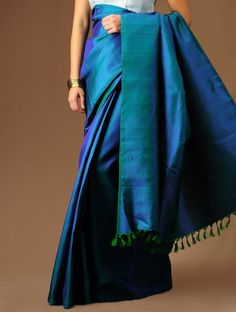 Black Girl Fashion Discover Bishnupuri katan Silk than Saree with Blouse Piece Indian Traditional Silk Sari with Silk Mark (fall pico free) Blue Silk Saree, Indian Silk Sarees, Soft Silk Sarees, Cotton Saree, Royal Blue Saree, Blue Lehenga, South Indian Sarees, Satin Saree, Green Saree