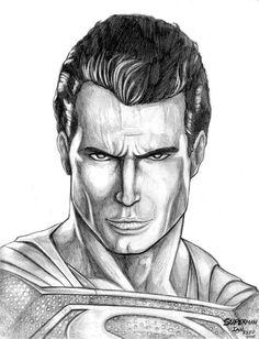 Superman (Dawn of Justice) by on DeviantArt Realistic Pencil Drawings, Pencil Art Drawings, My Drawings, Superman Drawing, Drawing Superheroes, Marvel Avengers 2, Superman Movies, Superman Dawn Of Justice, Superman Man Of Steel