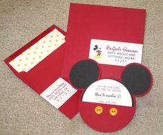 Mickey Mouse Invitation by PapercutInvites on Etsy, $5.00