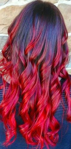 See more Red ombre hair love it think I'll get my hair done lik this when it grows out :)  http://www.womensandmenshairstyle.net/