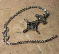 Ornate filigree cross necklace   vintage jewellery   Jewels & Finery UK