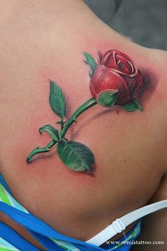 Rose Tattoos For Women On Shoulder