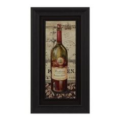 The French Red Wine Framed Art Print features a bottle of red wine that you can hang around your own collection. Art Encadrée, Wine Wall Art, First Time Home Buyers, Framed Art Prints, New Art, Whiskey Bottle, Red Wine, Wall Decor, French