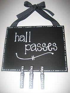 Clothes pin passes...much better than the paper passes that get ripped up or wet and soggy with Lord only knows.