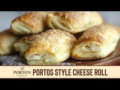 Portos Cheese Rolls Recipe, Cream Cheese Rolls Recipe, Fun Baking Recipes, Bakery Recipes, Dessert Recipes, Cooking Recipes, Baking Ideas, Recipes Using Puff Pastry, Cheese Rolling