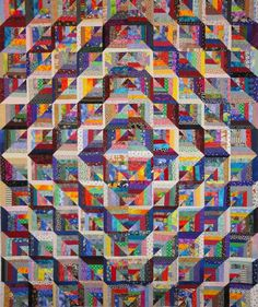 Dee's mitred string quilt. Fabulous dimensionality!
